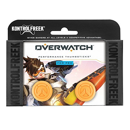 KontrolFreek Overwatch für PlayStation 4 und PlayStation 5 (PS5) | Performance Thumbsticks | 1 x Hoch Konvex, 1 x Mittel Konvex | Orange