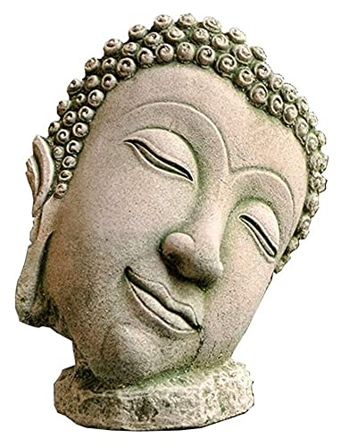 GAOYINMEI Statue de bureau en forme de tête de bouddha thaï, sculpture, buste en grès sculpté, figurines zen bouddhisme, décoration de la maison, cadeau artisanal
