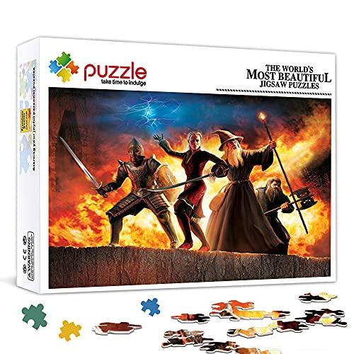 Family Fun Jigsaws Puzzles 1000 Piezas El Señor de los Anillos La Tercera Edad Juego de rompecabezas de madera Juegos Educativos Rompecabezas de decoración del hogar 75x50cm