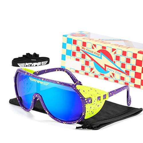 HUALUWANG Pit Viper Gafas de Bicicleta Unisex UV400 Gafas Polarizadas para Adultos, Béisbol Correr Pesca Golf Gafas de Sol (Color : A)