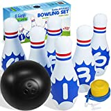 Flop Games Jumbo Inflatable Bowling Set - Fun Giant Game for Kids, Adults & Family - Outdoor, Indoor, Yard & Lawn Bowling Set For Kids - Birthday & Party Games for Kids - Include a Foot Pump