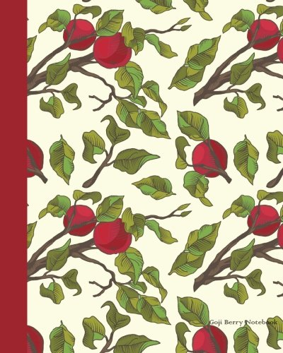 Goji Berry Notebook: Large 8 x 10 inches 120 pages Cream Paper Blank Graph Notebook / Planner /...