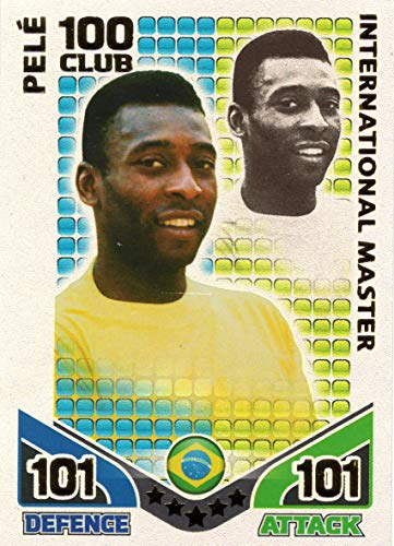 MATCH ATTAX WORLD CUP 2010 PELE 100 VEREIN KARTE BRAZILIEN HUNDRED