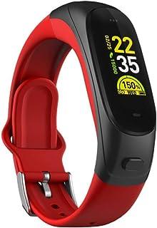WYZXR Smart Fitness Tracker/Smart Bracelet, Sleep Monitor Bluetooth Earphone Pedometer Recordatorio Smart Bracelet - Rojo, Pulsera para Niños Mujeres Hombres