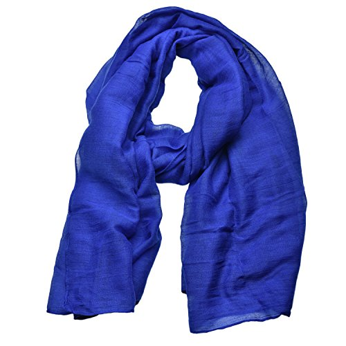 Woogwin Light Soft Scarves Fashion Scarf Shawl Wrap For Women Men (Darkblue)