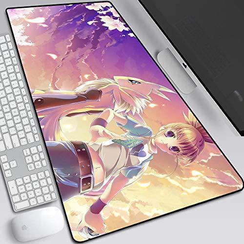 Alfombrilla de ratón Grande para Juegos XXL (900x400x3 mm) Alfombrilla Gruesa extendida, Bordes cosidos antidesgaste para PC, Teclado, Escritorio,Digimon Monster-G