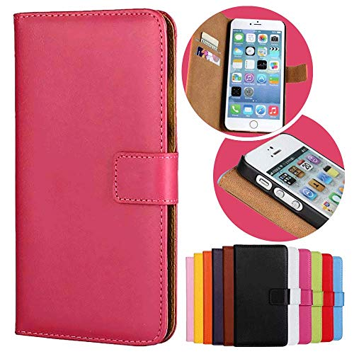 Roar Handy Hülle für Motorola Moto G (G2, 2.Generation), Handyhülle Pink, Tasche Handytasche Schutzhülle, Kartenfach & Magnet-Verschluss