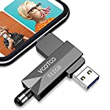 VOOTOO USB 3.0 Flash Drive 512GB Memory Stick, USB 3.0 External Storage Thumb Drive Photo Stick Compatible with iPhone, Android and Computers (Dark Gray)