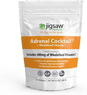 Jigsaw Health - Adrenal Cocktail Packets with Whole-Food Vitamin C, Potassium, and Redmon's Real Salt. Supports Adrenal Glad Function and Combats Adrenal Fatigue