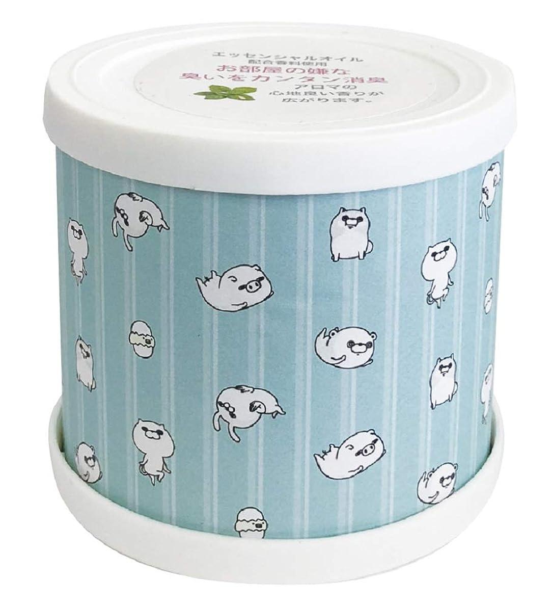 スリル眠り合意ヨッシースタンプ フレグランスジェル パターン青 置き型 消臭成分配合 グリーンティーの香り ABD-021-001