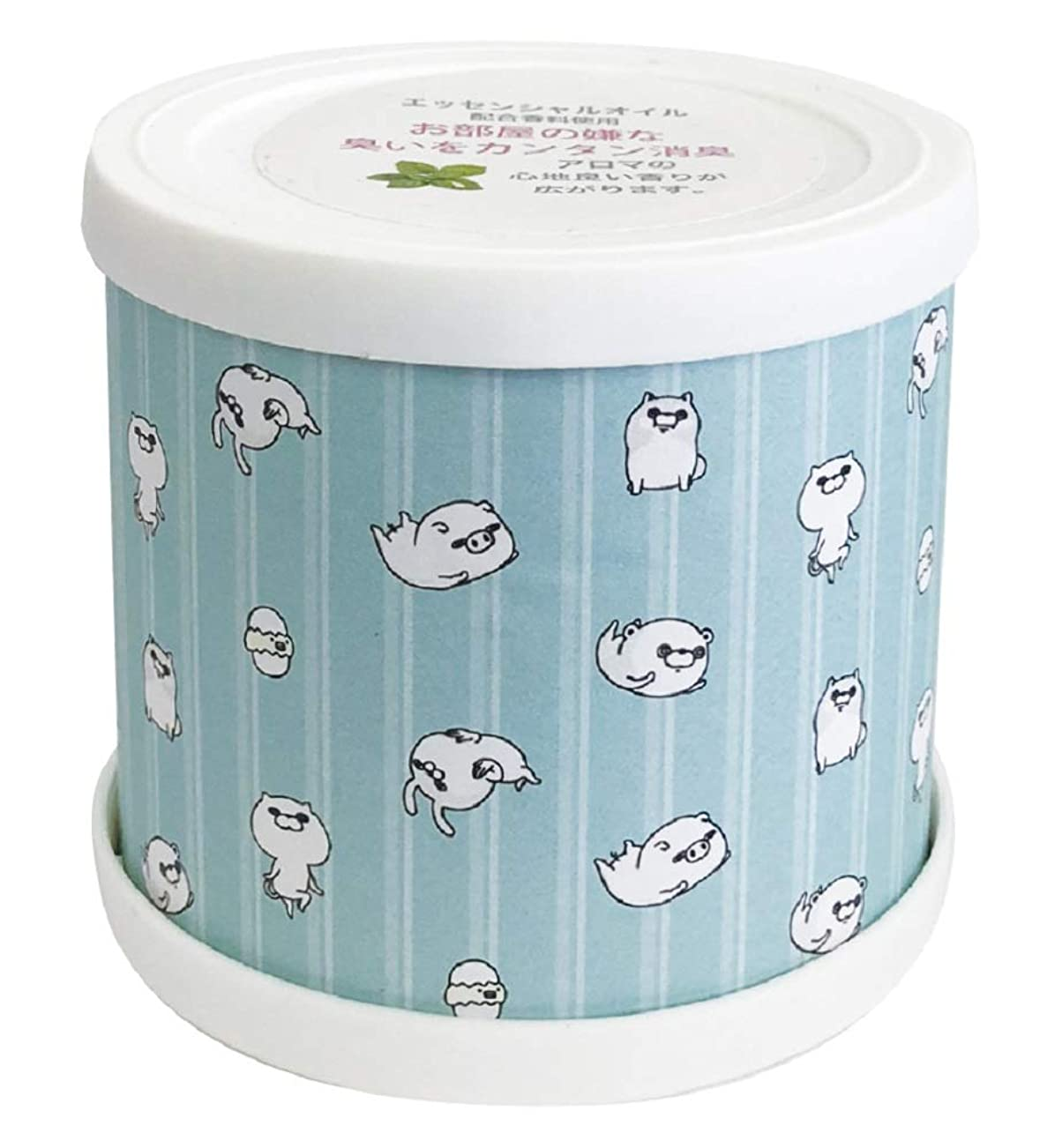 バレエ充実インデックスヨッシースタンプ フレグランスジェル パターン青 置き型 消臭成分配合 グリーンティーの香り ABD-021-001