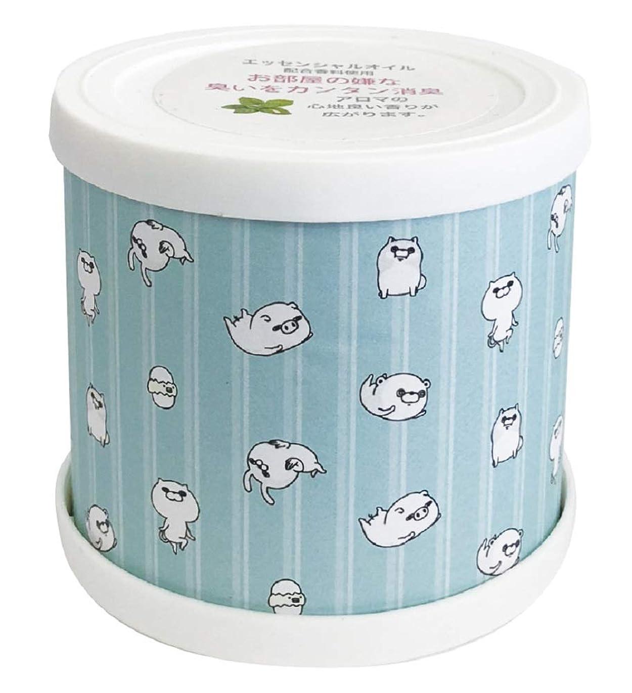 リファイン掃くその後ヨッシースタンプ フレグランスジェル パターン青 置き型 消臭成分配合 グリーンティーの香り ABD-021-001