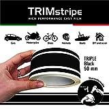 4R Quattroerre.it 10534 Trim Stripes Strisce Adesive per Auto, Nero, 3F 50 mm x 10 mt