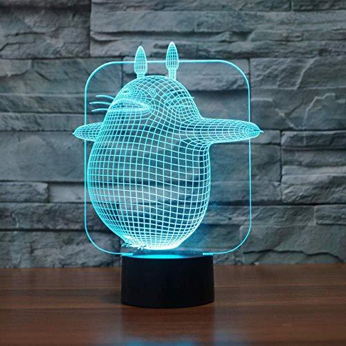 3D Nachtlicht Totoro Lampe 3D Visuelle Led Nachtlichter Schreibtisch Tischlampe 7 Farben Schlafzimmer Baby Schlafen Nachtlicht Für Kinder Spielzeug Geschenk
