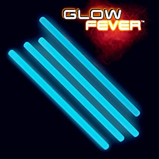 Glow Fever Bulk Glow in The Dark 50ct 10'' Jumbo Glow Sticks, for Party Supplies Festivals Raves Birthday Wedding, Blue