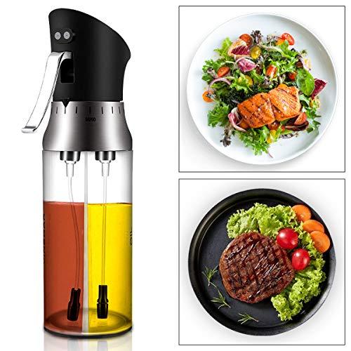 CestMalll Ölsprüher Flasche Oil Sprayer Glas Öl Essig Spender Flasche Küche Werkzeug, Öl Sprüher für Kochen, BBQ, Grillen, Pasta, Salate, Backen und Braten