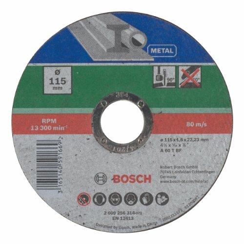 Bosch Mola Taglio Dritta, Metallo 115 x 22.23 x 1.6 mm
