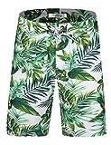 ELETOP Short de Bain pour Homme Short de Bain à séchage Rapide Short de Surf Beach Board avec...