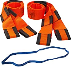 Forearm Forklift Lifting and Moving Straps for Furniture, Appliances, Mattresses or Heavy Objects up to 800 Pounds 2-Person, Includes Mover's Rubber Band, Orange, Model L74995CNFRB