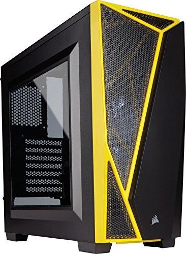 Corsair Carbide SPEC-04 Boîtier PC Gaming (Fenêtré Moyenne Tour ATX) Noir/Jaune