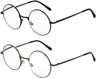 LianSan Designer Classic Retro Round Circle Men Women Reading Glasses 1.0 1.5 2 00 2.50 3.0 3.5 4.0 L6800 2 Pairs (+1.50)