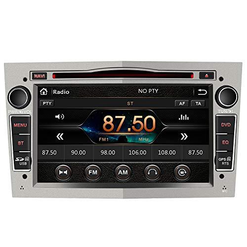 AWESAFE Radio Coche 7 Pulgadas con Pantalla Táctil 2 DIN para Opel, Autoradio con Bluetooth/GPS/FM/RDS/CD DVD/USB/SD, Apoyo Mandos Volante, Mirrorlink y Aparcamiento (Gris)