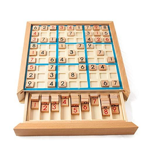Sudoku Negen Paleizen Houten Spel Schaken Puzzel voor Kinderen Logisch Denken Negen Paleizen Bordspel Speelgoed met Vragen,Blue
