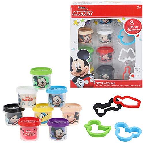 Disney - Plastilina infantil 8 botes Plastilina colores niños 3 años Moldes plastilina blanda No tóxica Juguetes...
