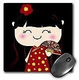 kawaii Chinese girl cartoon cute mousepad