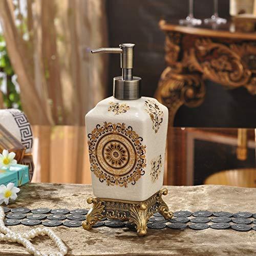 Bomba de jabón líquido de loción recargable Dispensador de jabón de cerámica nórdicos estilo moderno Lotion 500ml Ideal Dispensadores de decoración y regalo útil for el hogar También para el cuidado d