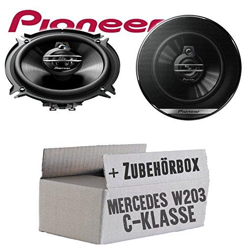 Mercedes C-Klasse W203 Heck - Lautsprecher Boxen Pioneer TS-G1330F - 13cm 3-Wege 130mm Triaxe 250W Auto Einbausatz - Einbauset