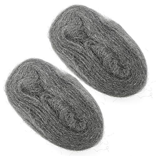 2 Pack Steel Wool Roll Fill Fabric DIY Kit, Hardware Cloth, Gap Blocker to Keep Annoying Animals Away from Holes/Wall Cracks/Vents in Garden, House, Garage (10FT)