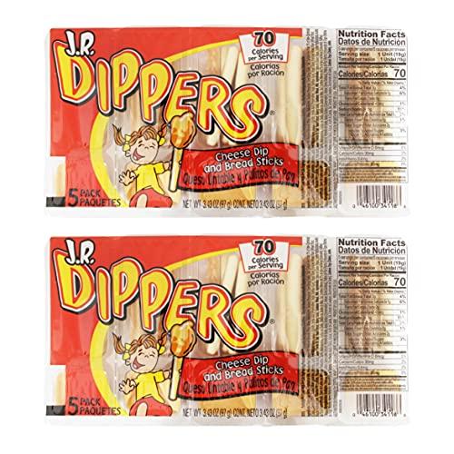 J.R. Dippers Cheese Dip & Bread Sticks Snacks (2 Packs)