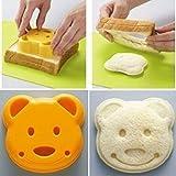 QTMY Bear Shape Sandwich Mold Cutter,Bread Sandwich Shapers Maker for Kids