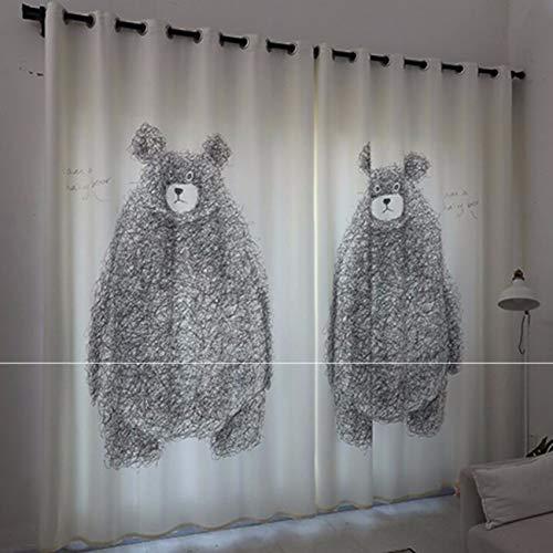 Rideaux Chambre des Enfants des Rideaux des Produits Finis De Simple Chambre des Filles Modernes Frais Personnage De Dessin Animé De Rideaux,250 X 270 Cm (W X H) X 2
