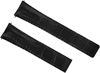 20MM LEATHER WATCH BAND STRAP FOR TAG HEUER CARRERA CALIBRE 6 F1 AQUARACER BLACK