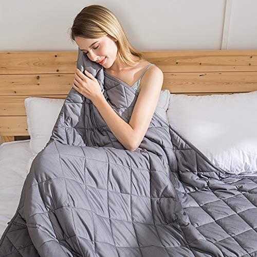 jaymag Gewichtsdecke 9kg 150 x 200cm Therapiedecke für Erwachsene Kinder Schwere Decke für Besseren Schlaf, Stressabbau und Angstzustände Weighted Blanket Beschwerte Decke 100% Baumwolle