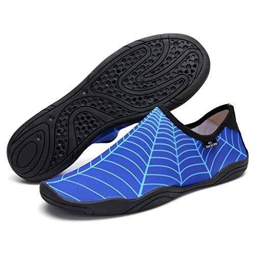 GDSSX Hombres y Mujeres Descalzos Soft Soft-SOFTS SOFTS Snorkeling Zapatos de Agua Zapatos de Agua Natación Antideslizante Secado Rápido (Color : Blue, Size : 36 EU)