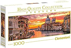 Clementoni-39426 Puzzle 1000 Piezas Panorama El Gran Canal - Venecia (39426.5)