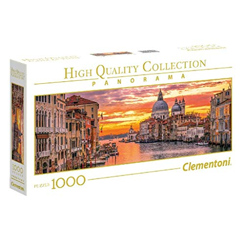 Clementoni Collection Panorama Puzzle The Grand Canal-Venice, 1000 Pezzi, 39426