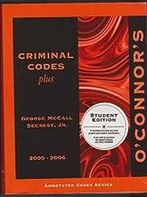 O'Connor's Criminal Codes Plus 2005-2006