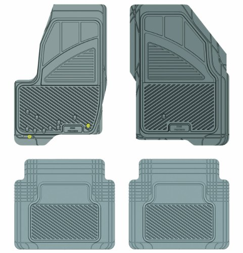 Koolatron Pants Saver Custom Fit 4 Piece All Weather Car Mat for Select Ford Taurus Models (Grey)