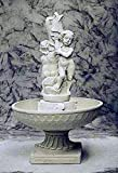 pompidu-living Brunnen, Gartenbrunnen, Zierbrunnen, Fountain, Doppel-Wasserspeier Farbe Terracotta