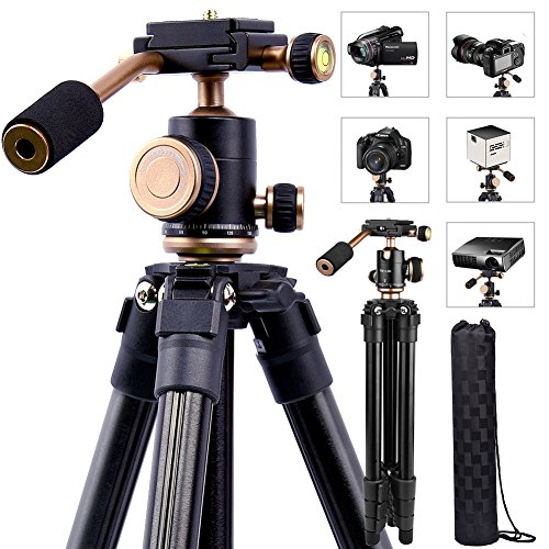 YoTilon Camera Tripod for DSLR, Portable Lightweight Travel Tripod for Camera, 360 Degree SLR Ball Tripods with 1/4 Plate for...