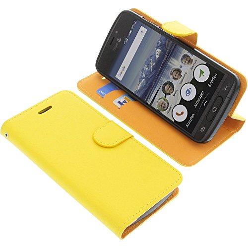 foto-kontor Tasche für Doro 8040 Book Style gelb Schutz Hülle Buch