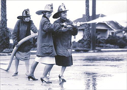 Three Women with Fire Hose Avanti America Collection Funny Birthday Card for Her