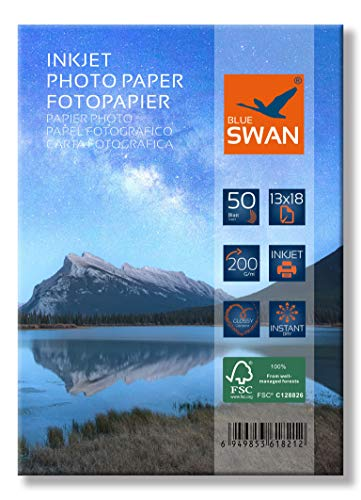 100 Blatt Fotopapier 13x18 cm 200g hochglanz wasserfest einseitig hochglanz (13x18cm 200g)