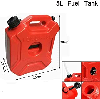 DOMINTY Gas Can 1.3 Gallon 5L Portable Fuel Oil Petrol Diesel Storage Gas Tank Emergency Backup for Motorcycle Car SUV ATV with Lock Oil Pack Fuel Cans Fuel
