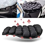 Siksin Air Motorcycle Seat Cushion Water Fillable Cooling Down Seat Pad Passenger, Pressure Relief Ride Pad Largefor Cruiser Touring Saddles