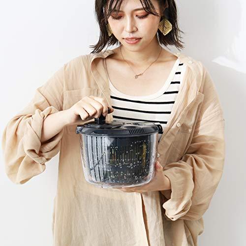 【BLKP】パール金属サラダスピナー野菜水切り限定ブラックBLKP黒AZ-5085